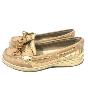 Sperry Angelfish Linen Eyelet Boat Shoes